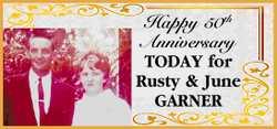 Happy 50th Anniversary TODAY for Rusty & June GARNER