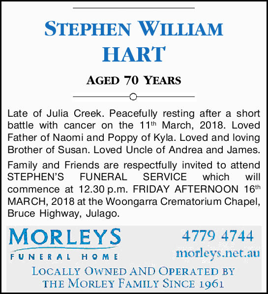 STEPHEN WILLIAM HART