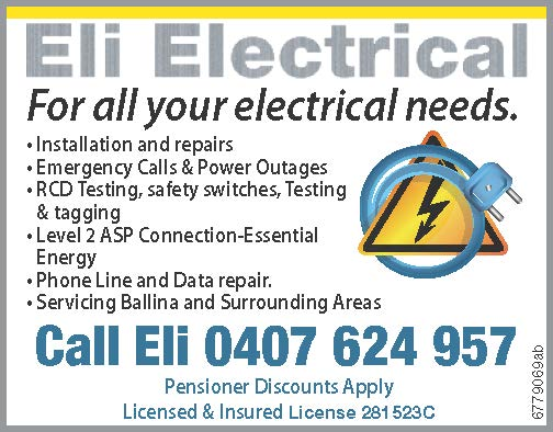 Call Eli 0407 624 957