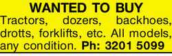WANTED TO BUY 
