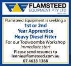 1st or 2nd Year Apprentice Heavy Diesel Fitter