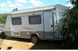 2010 Jurgens Caravan.    18ft, twin beds, shower/toilet,  extended annexe.  Weig...