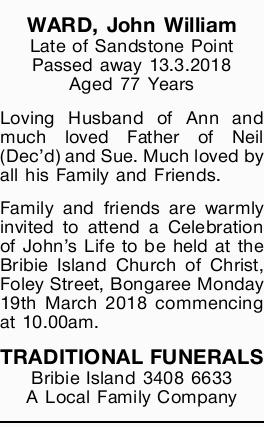 WARD, John William