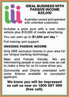 IDEAL BUSINESS WITH PASSIVE INCOME $35,000