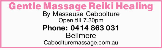 Reiki Healing   By Masseuse Caboolture   Open till 7.30pm   Bellmere   Phone: 041...
