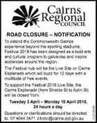 ROAD CLOSURE - NOTIFICATION