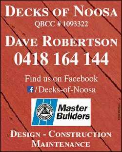 Decks of Noosa QBCC # 1093322 Dave Robertson 0418 164 144 6560626ab Find us on Facebook / Decks-of-N...