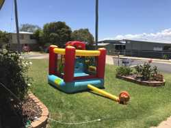 Jumping castle with blower