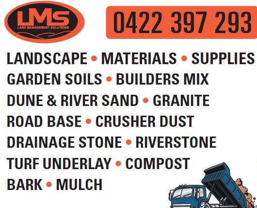 LANDSCAPE • MATERIALS • Supplies GARDEN SOILS • BUILDERS MIX DUNE & RIVER...