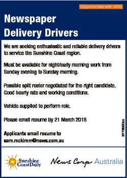 [Opportunities with APN] Newspaper Delivery Drivers We are seeking enthusiastic and reliable deliver...