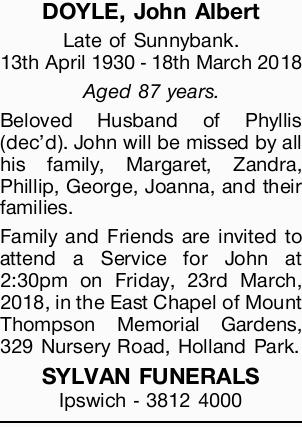 DOYLE, John Albert