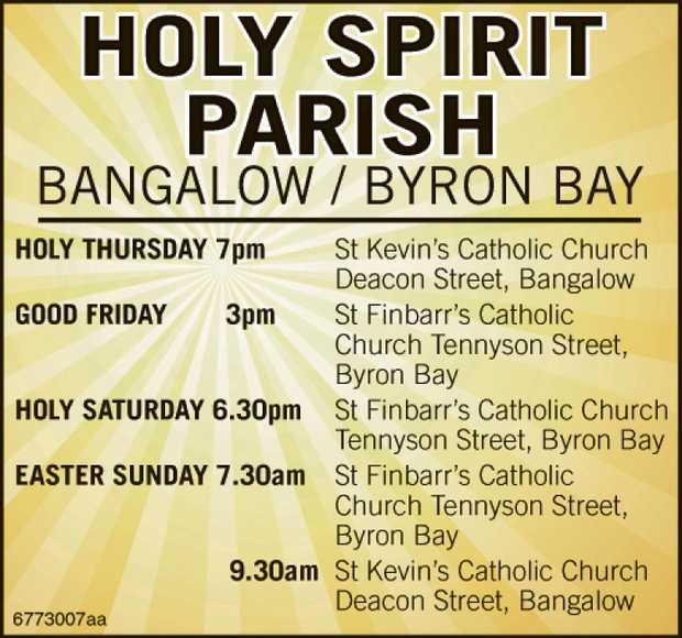 HOLY SPIRIT PARISH      HOLY THURSDAY 7pm St Kevin's Catholic Church Deacon S...
