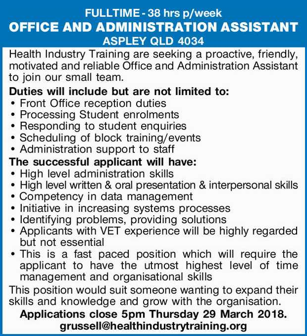 Administration & Office Support