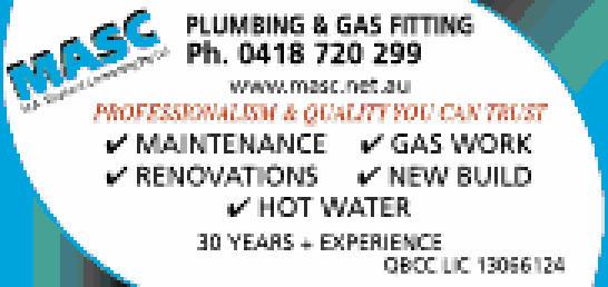 Professionalism & Quality you can trust   www.masc.net.au    Maintenance  Gas...