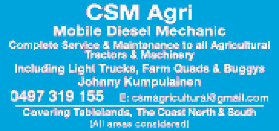 Complete Service & Maintenance to all Agricultural Tractors & Machinery