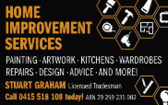 PAINTING - ARTWORK - KITCHENS - WARDROBES REPAIRS - DESIGN - ADVICE - AND MORE!   STUART GR...