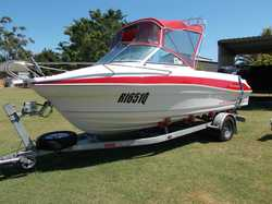5.4m, 2007 115HP Suzuki 4 Stroke, 183 hrs.  Every concievable extra $27000 ono.  Ph 0428 090 620