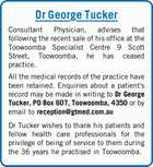 Dr George Tucker Consultant Physician