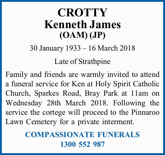 CROTTY Kenneth James