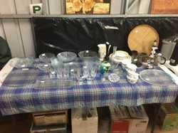 Some fancy glassware, vases, crockery, blender, Breville Juicer,  books, CD, pc games, drill, electr...
