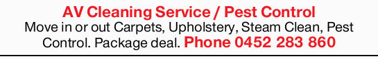 Move in or out, Carpets, Upholstery, Steam Clean, Pest Control. Package deal.