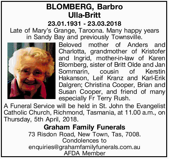 23.01.1931 - 23.03.2018
