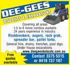 DEE-GEES BOBCATS & EXCAVATORS