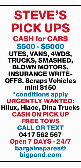 CASH for CARS $500 - $5000