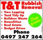 T & T Removal Rubbish Phone