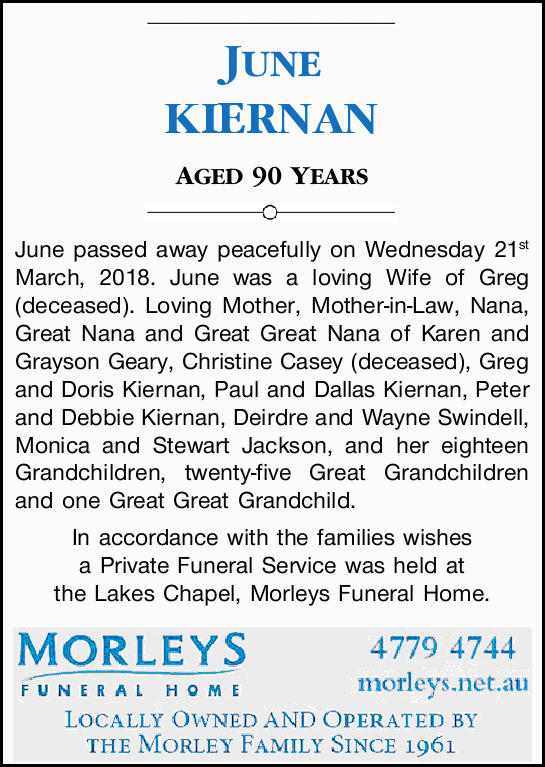 AGED 90 YEARS