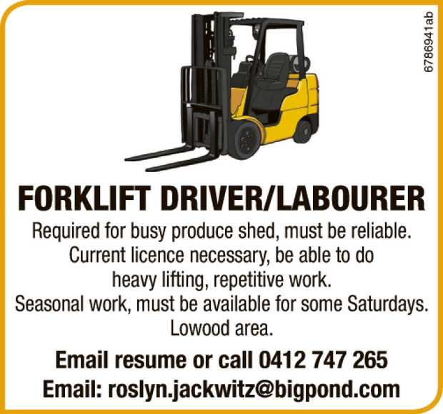 Required for busy produce shed, must be reliable.