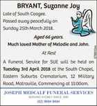 BRYANT, Suzanne Joy