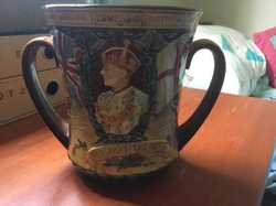 Royal Doulton Loving Cup celebrating the coronation of Edward VIII of England. This, in fact did not...