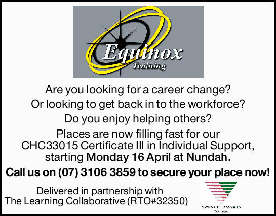 Are you looking for a career change? Or looking to get back in to the workforce? Do you enjoy hel...