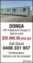 DONGA VIP 4 Bedroom Donga