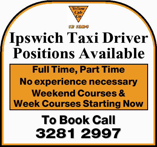 Ipswich Taxi Driver Positions Available    Full Time  Part Time  No experience n...