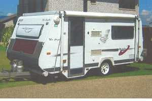 <p> AVAN Pop Top Caravan, 4.2mtr, Tare 1090, good condition, roll out awning, full annexe,two...