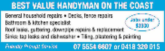 General household repairs   Decks, fence repairs   Bathroom & kitchen specialis...