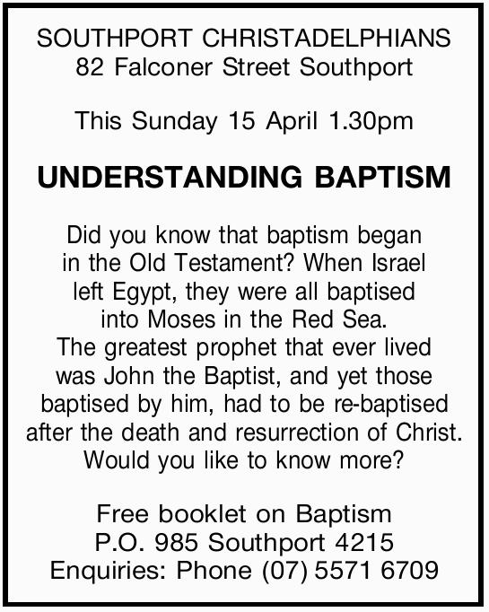 SOUTHPORT CHRISTADELPHIANS 