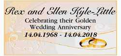 Rex and Ellen Kyle-Little   Celebrating their Golden Wedding Anniversary   14.04.1968 - 1...