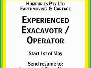 Experienced Excavator / Operator