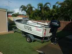 Boat For Sale Used, Excellent Condition, 3.9 stacer,25hp evinrude 2 stroke electric start, new axle,...
