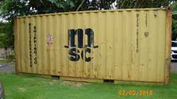 shipping container 20 foot good lock up container with a mezaneine floor [ it can be removed if not...