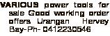 Good working order offers Urangan Ph- 0412230546