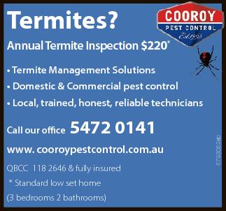 Termites?   Annual Termite Inspection       $220*   • Termite Manageme...