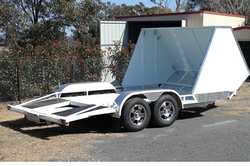 CAR TRAILER -   Drop axle, 7 leaf springs, regd August 2018, GVM 3500kg, 1year old, elect bre...