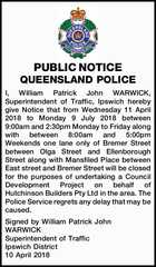 PUBLIC NOTICE QUEENSLAND POLICE