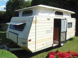 Golf Pop Top caravan, excellent condit. always garaged, lots storage independ. suspension, sell w...