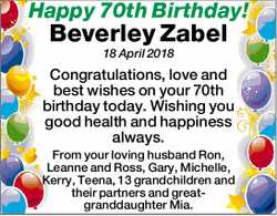 Happy 70th Birthday!