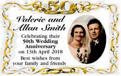 Valerie and Allan Smith    Celebrating their 50th Wedding Anniversary on 13th April 2018  ...